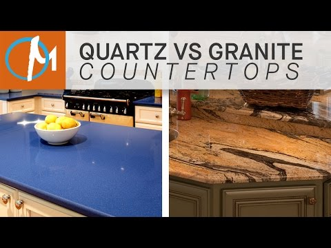 Quartz vs granite countertops endlessvideo for Countertops granite vs quartz
