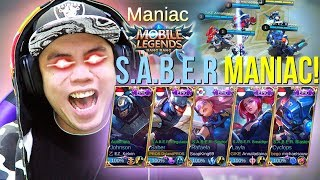 FULL TEAM YOUTUBER S.A.B.E.R SKIN EPIC AUTO MANIAC!!! - Mobile Legends Indonesia #79