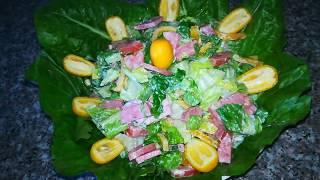 Как приготовить салат из колбасы.Очень вкусный салат , на Очень скорую руку!
