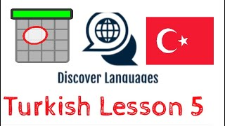 Turkish Lesson 5 - Days of the week