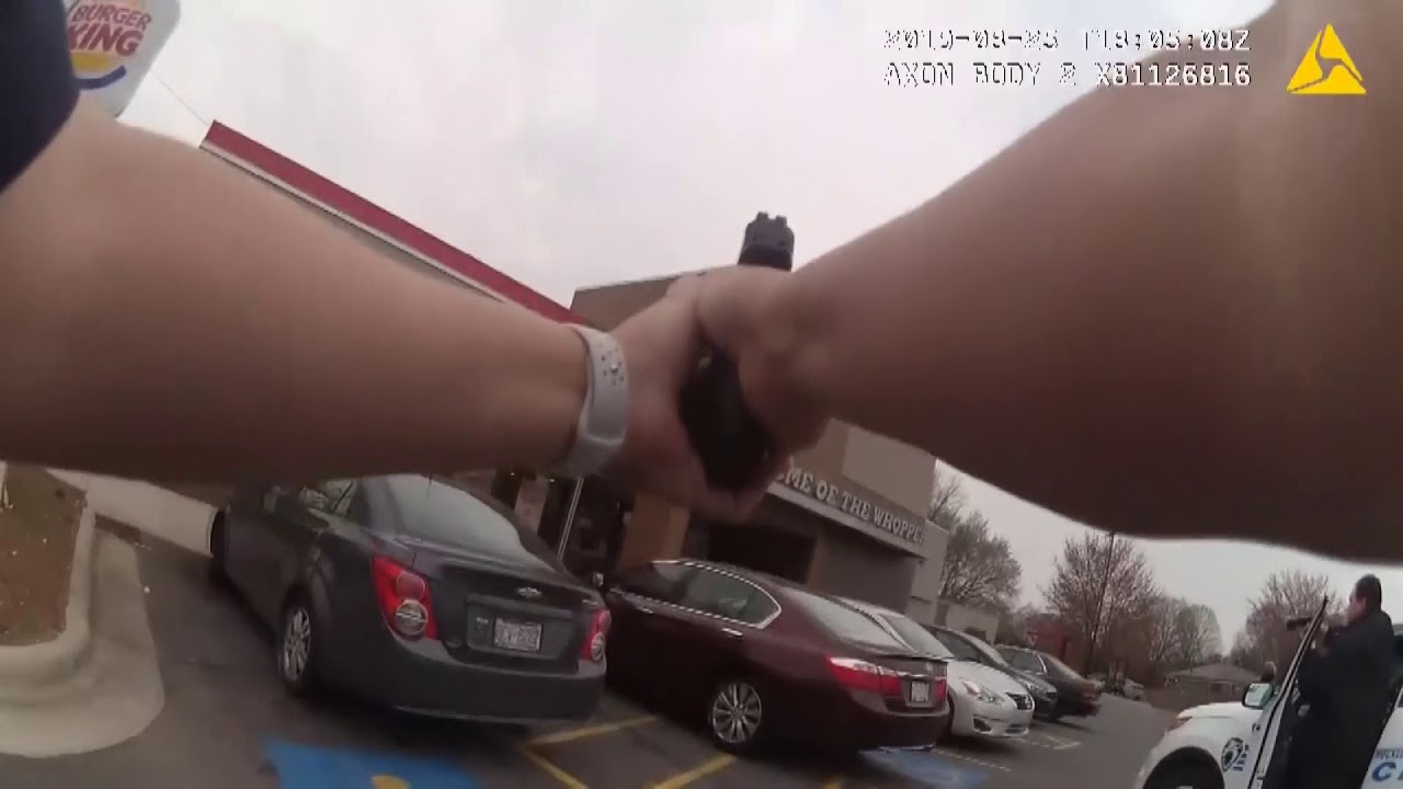 WARNING: Graphic video - Raw body cam video of Burger King shooting
