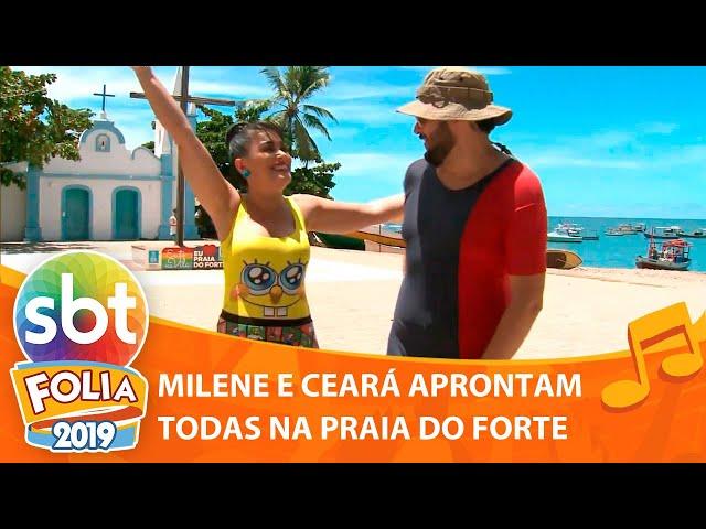 Milene Pavorô e Matheus Ceará aprontam todas na Praia do Forte | SBT Folia 2019