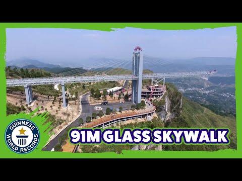 Longest cantilevered glass-bottomed skywalk - Guinness World Records