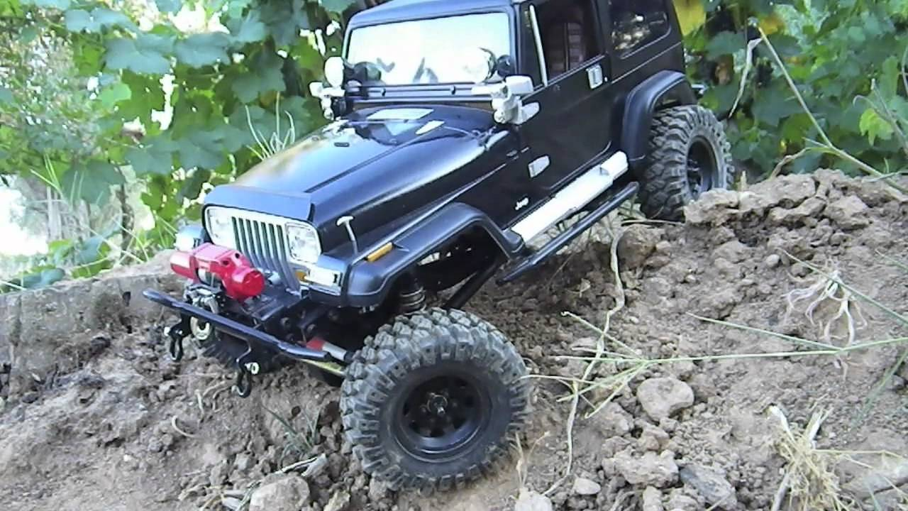 Rc Scaler Axial Scx 10 Jeep Yj Replica Rc4wd Black Youtube