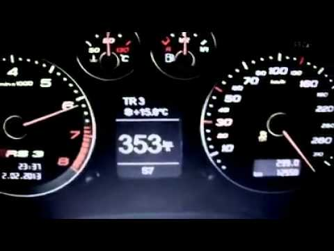 Audi Rs3 741ps 0 365 Km H Woow Youtube