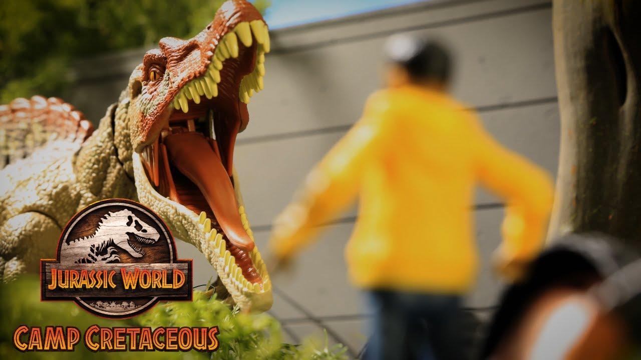 Camp Cretaceous Files: Spinosaurus Showdown | Jurassic World | Mattel Action!