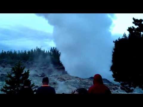 Steamboat Geyser eruption in Yellowstone Wednesday July 31,2013
