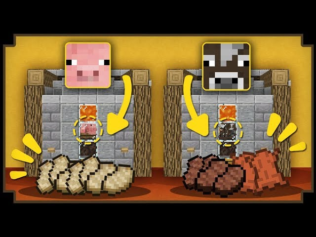 CARA MEMBUAT AUTO PIG & COW FARM - Minecraft Indonesia