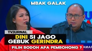 Download Video SI CANTIK JAGO GEBUUK ! Dini PSI Bungkaam Andre Rosiade Gerindra Saat Live TV MP3 3GP MP4
