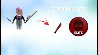 COMPRANDO ELITE NO MURDER - ROBLOX