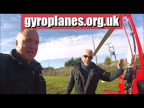 Toby's first time in a gyroplane / gyrocopter
