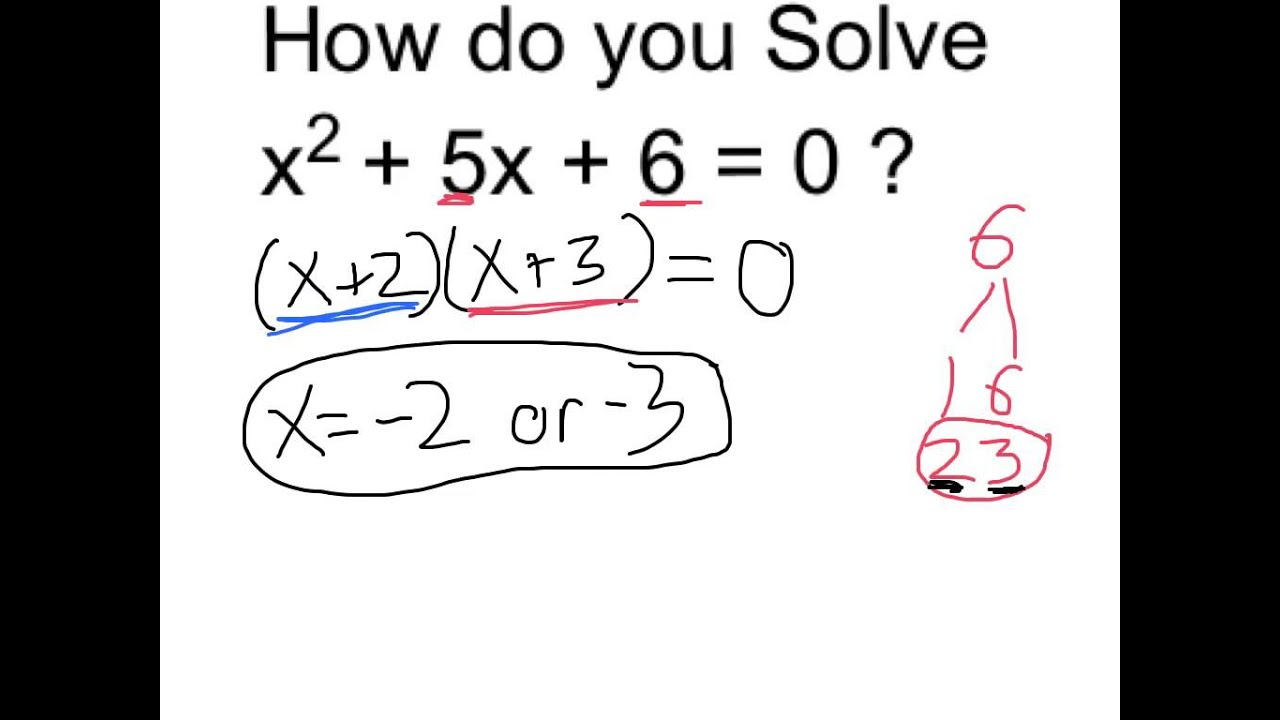 How do you solve the equation x + 2 + 5x + 6 = 0