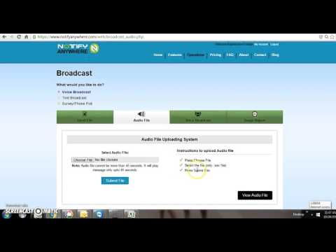 Notify AnyWhere Voice Broadcast Or  Robocalls Free International Calls