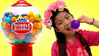 Emma Pretend Play with Gumball Candy Sweet Machine Toy for Kids