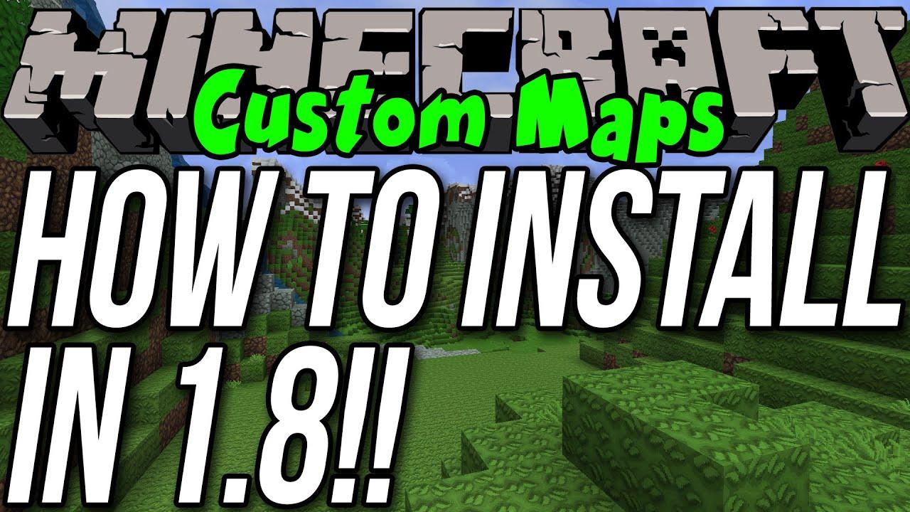 How To Install Custom Maps In Minecraft YouTube - Maps fur minecraft installieren