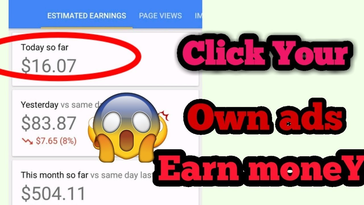 My earning 2$ Dollar per click daily earn 50$ Dollars proof video