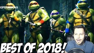 1000 DAMAGE COMBO WITH RAPHAEL, NINJA TURTLES REACTION & MORE - Injustice 2 BEST Of 2018!