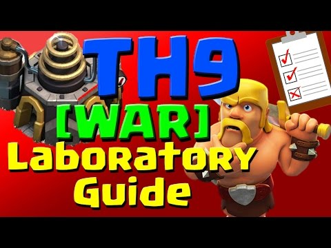 Clash of Clans: [WAR] TH9 Laboratory Research Guide (September 2016) ULTIMATE!!!
