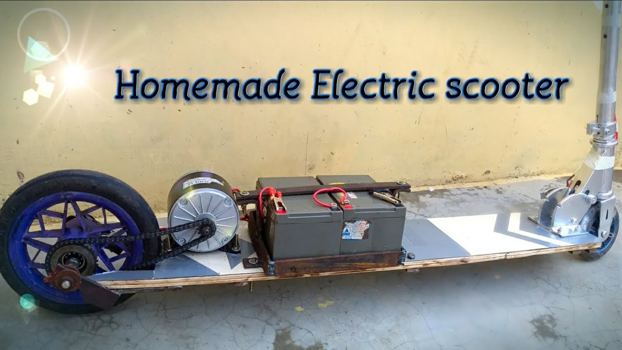 How To Make Simple Electric Scooter Part 1 Creative Science