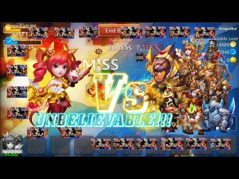 Unbelievable:DOVE KEEPER VS ALL TANK BROKEN HERO?? Castle Clash