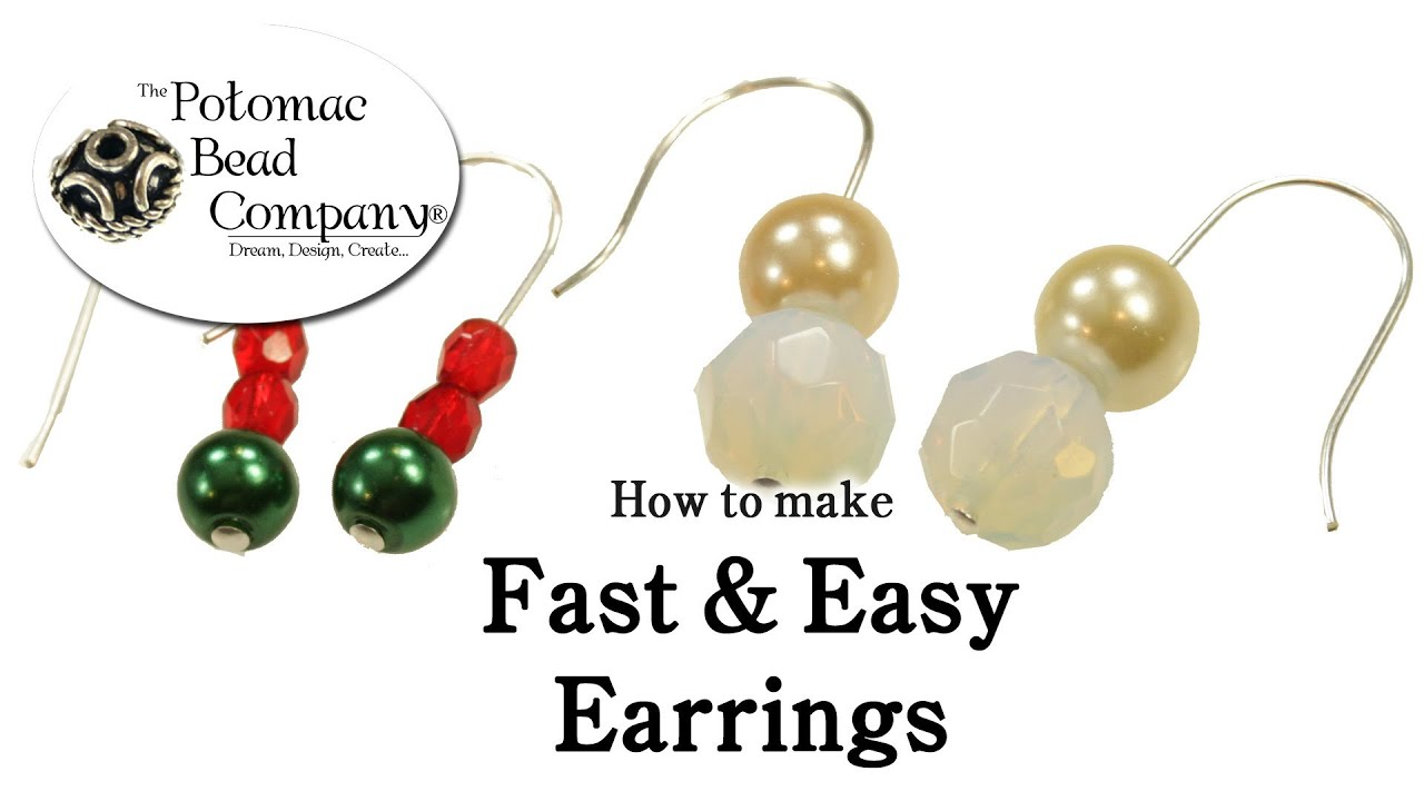 How to Make Fast & Easy Earrings - YouTube