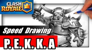 How to Draw PEKKA from Clash of Clans and Clash Royale