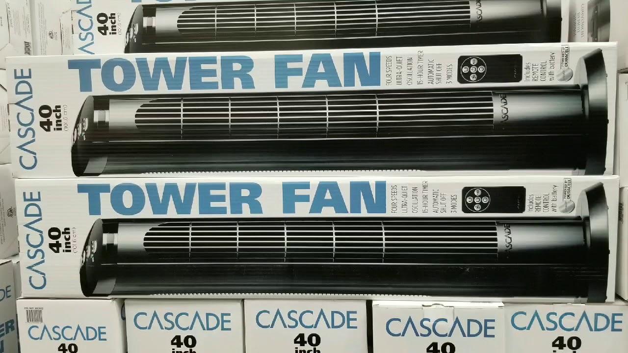 Costco! Cascade Tower Fan 40 Inch $29!!!