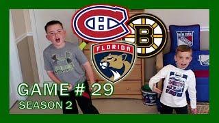 KNEE HOCKEY GAME # 29 - BRUINS / CANADIENS / PANTHERS - SEASON 2 - QUINNBOYSTV