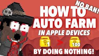 How to Auto Farm in Apple Device | Get rich without doing anything! | Growtopia