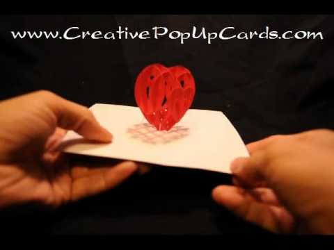 Valentines Day Pop Up Card 3d Heart Youtube