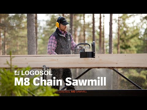 How Can One Man Cut a Log into Boards All by Himself? By Using a Logosol
