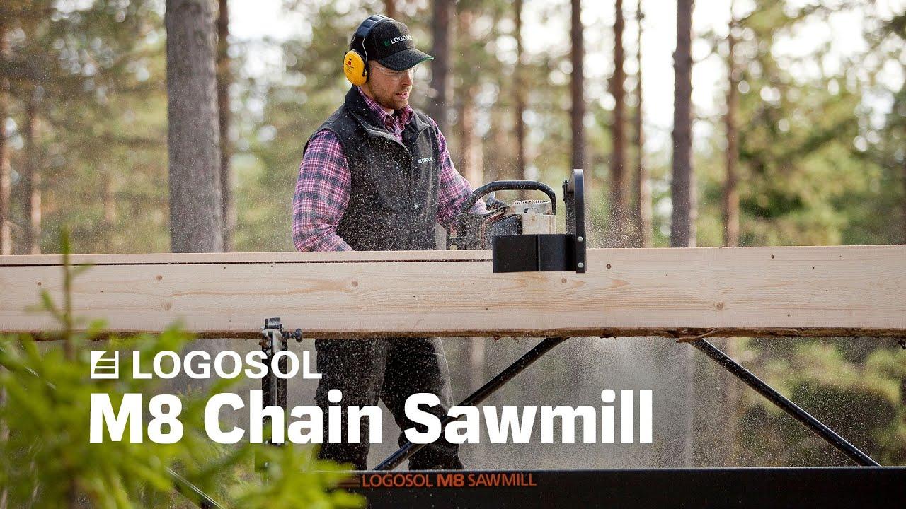 Logosol M8 The Swedish Portable Sawmill Logosol Youtube
