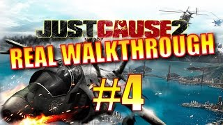 Just Cause 2 Walkthrough - Part 4 - Power Surge Mission (Awan Cendawan 100% Completion!)