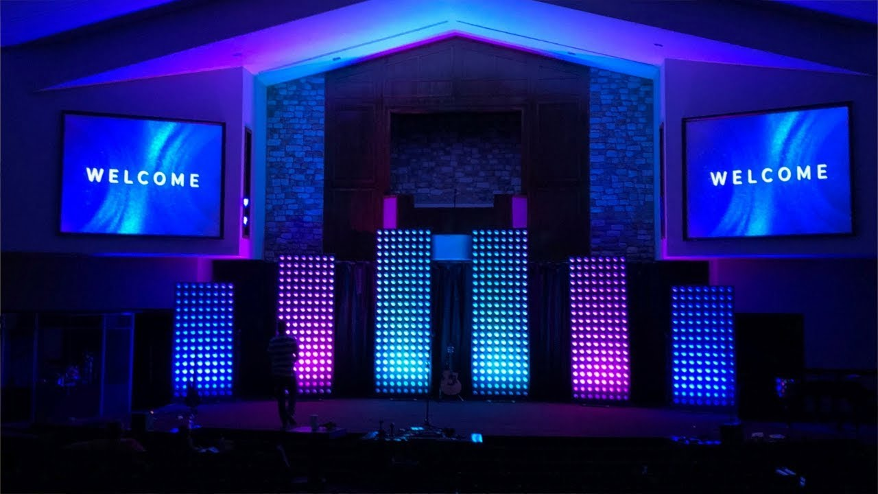 A Modern Church Stage Design Idea And How We Did It Youtube