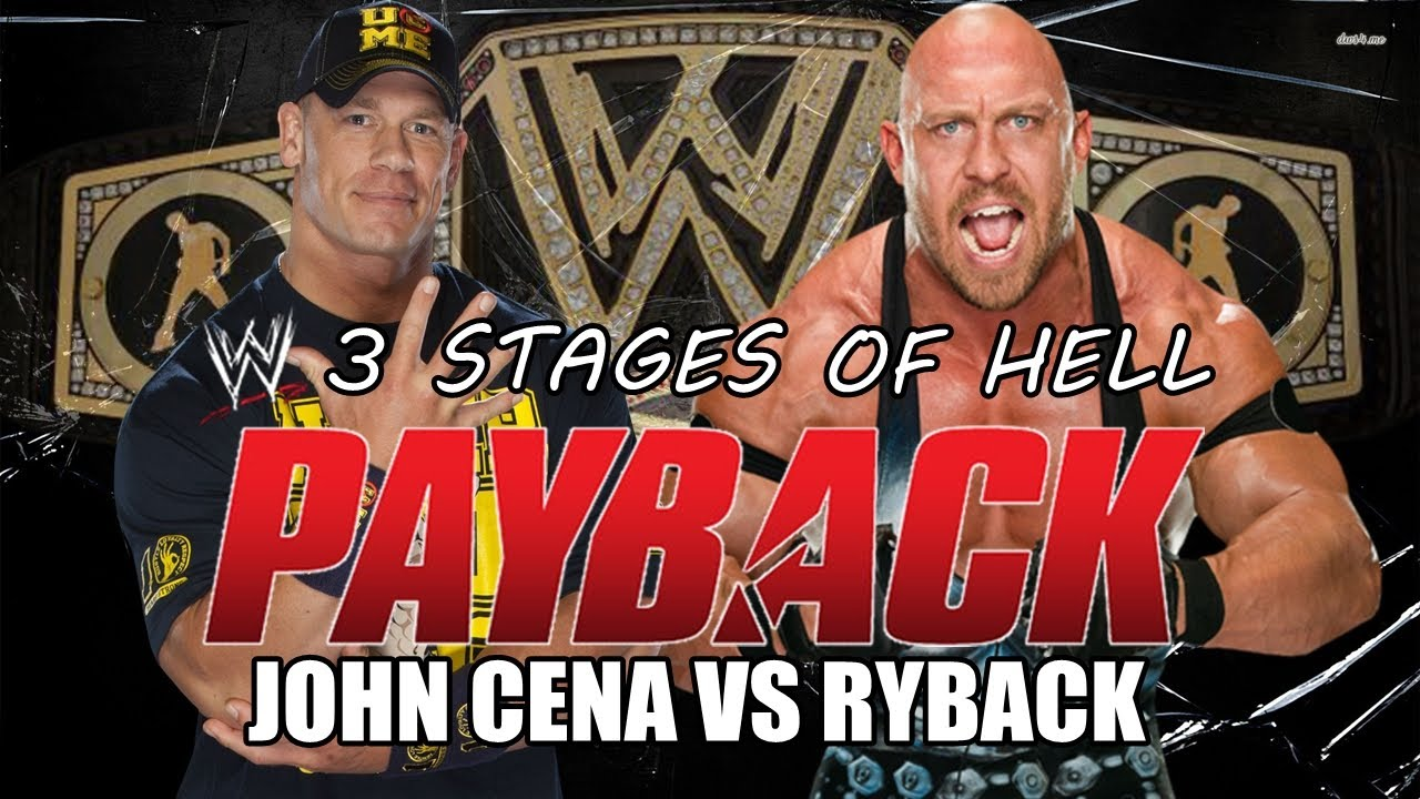 WWE Payback 2013 - John Cena vs Ryback (3 Stages of Hell ...