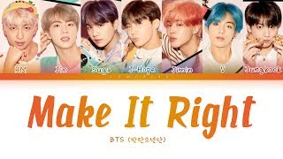 BTS - Make it Right                  - Make it Right   Color Coded sHanRomEng        Resimi
