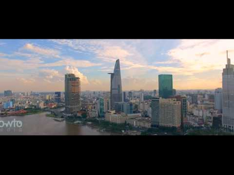 Saigon Ho Chi Minh City from above - Aerial view