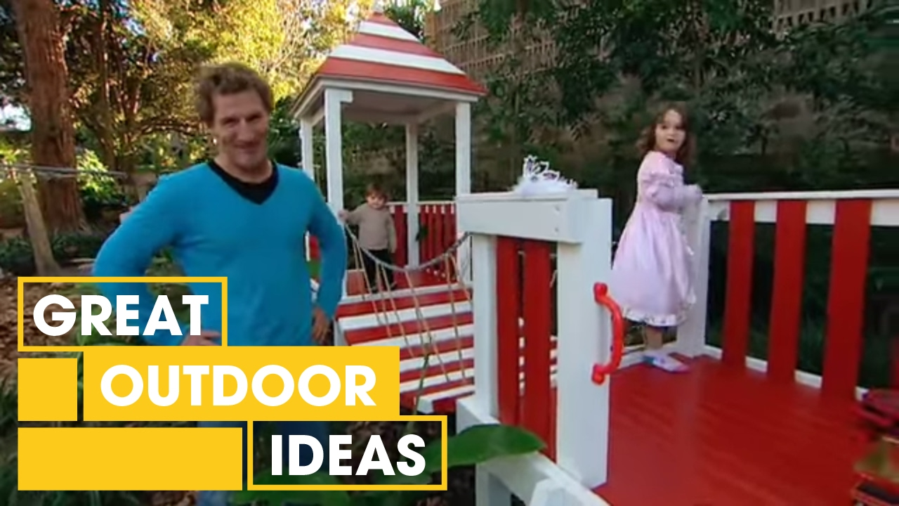 Make Your Own Diy Castle Cubby House Outdoor Great