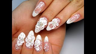 как сделать акриловый цветок на ногтях