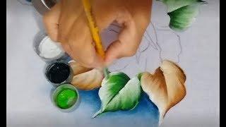 Pintando folhas verdes – pintura para iniciantes