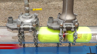Sarco Stopper Gas Bags developed with WASK for Single Hole Flow Stopping