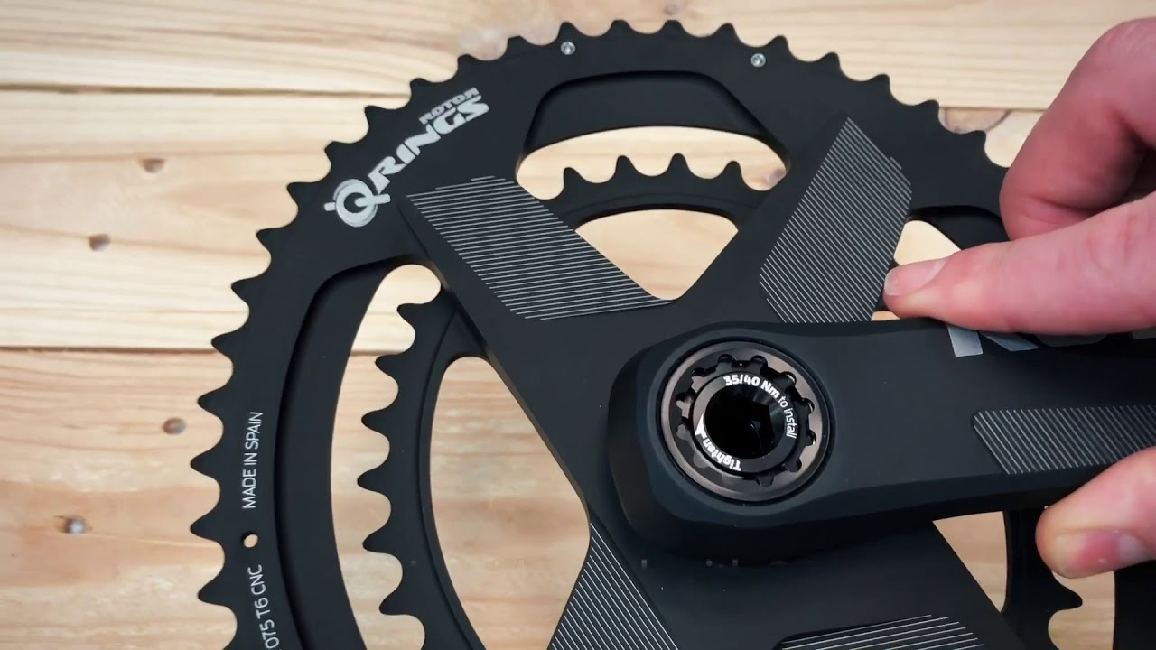 046486e1cfa ALDHU crankset assembly with Q RINGS® Direct Mount Chainrings. ROTOR Bike  Components