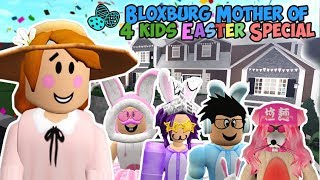 BLOXBURG MOTHER OF 4 KIDS EASTER SPECIAL... we hunted fruit instead (Roblox Roleplay)