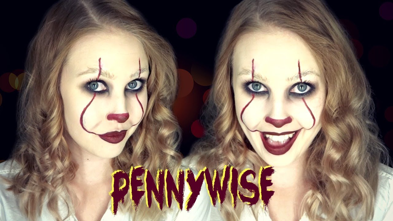 Laskiga Halloween Sminkningar.Halloween Tutorial Pennywise Fran It Feliciascorner