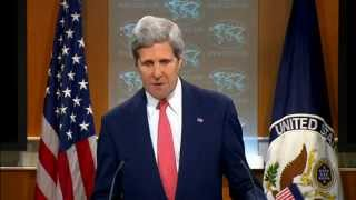 Secretary Kerry Delivers Remarks on Ukraine