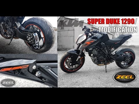 KTM super duke 1290 - ZEEL design license plate bracket - YouTube