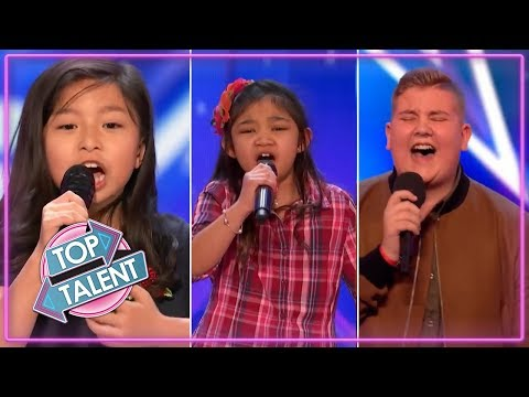 BEST KIDS SINGERS AUDITIONS 2017 ON Britain's Got Talent & America's Got Talent