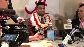 Tua Tagovailoa at 2018 Heisman Trophy ceremony