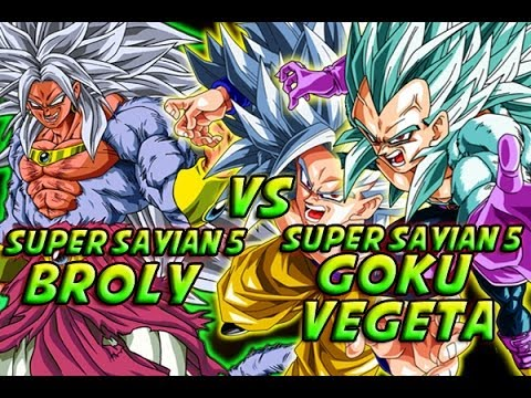 dragonball z what if battle super saiyan 5 broly vs super saiyan 5 goku vegeta youtube. Black Bedroom Furniture Sets. Home Design Ideas