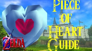 Legend of Zelda: Ocarina of Time (3DS) Piece of Heart Guide